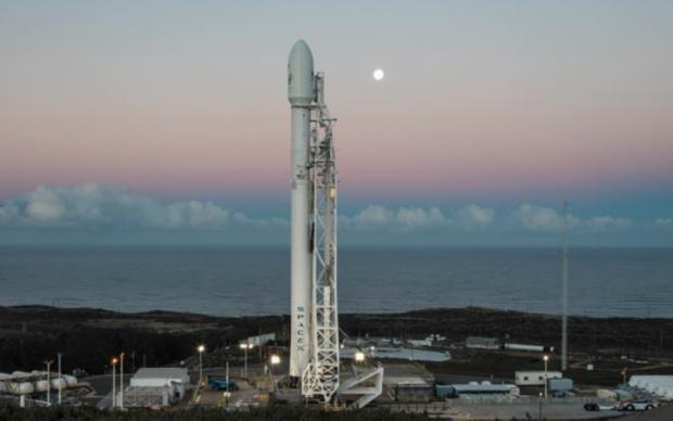 Повторный запуск ракеты SpaceX показали в сети