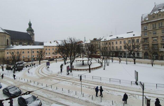 Снег во Львове, фото galnet