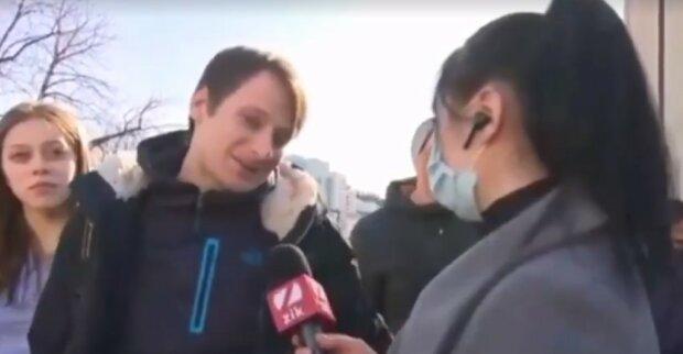 интервью, скриншот из видео