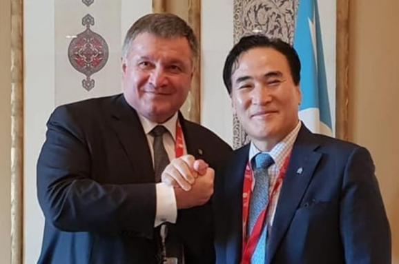 Арсен Аваков и Ким Чон Ян