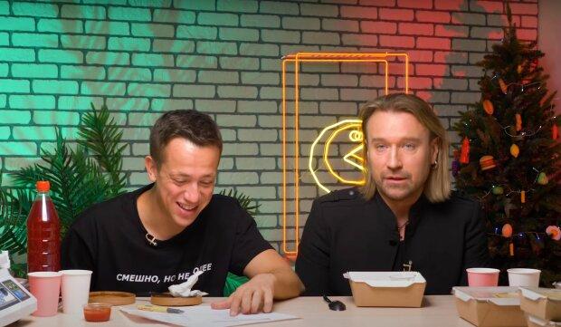 Олег Винник и Алексей Дурнев, скриншот из видео