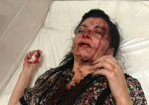 Избитая активистка, фото: Подслушано в полиции
