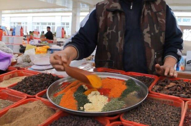 Специи на рынке, скриншот видео