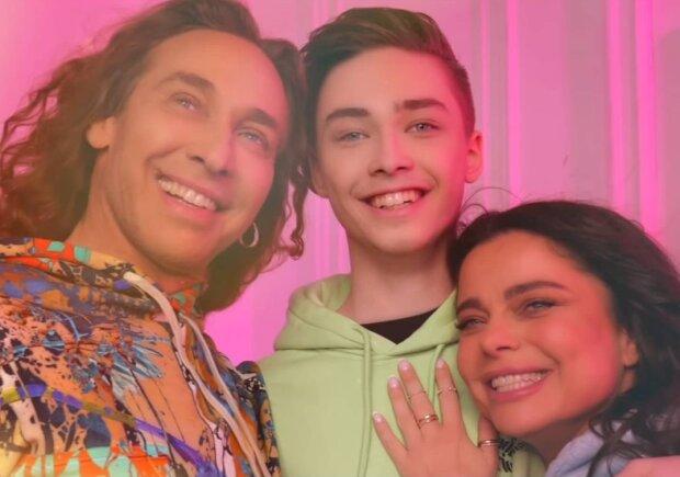 Тарзан и Наташа Королева с сыном, фото Instagram