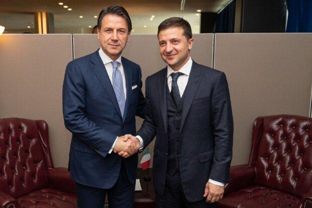 Зеленський зустрівся з прем'єр-міністром Італії Джузеппе Конте: що обговорювали політики