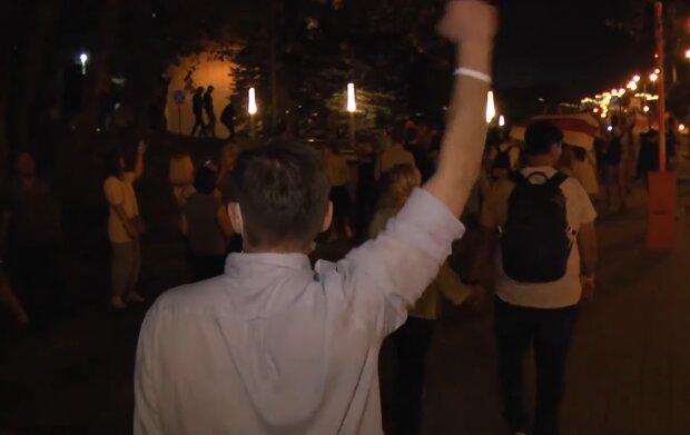 Протести у Білорусі, скріншот з відео