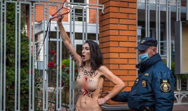 Активистка Femen, фото: Telegram