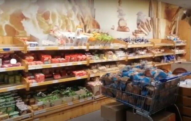 хлібний відділ, скріншот з відео