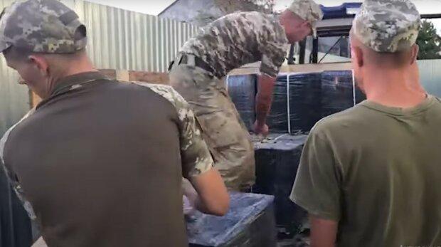На Закарпатті прикордонники затримали контрабандистів, скріншот з відео