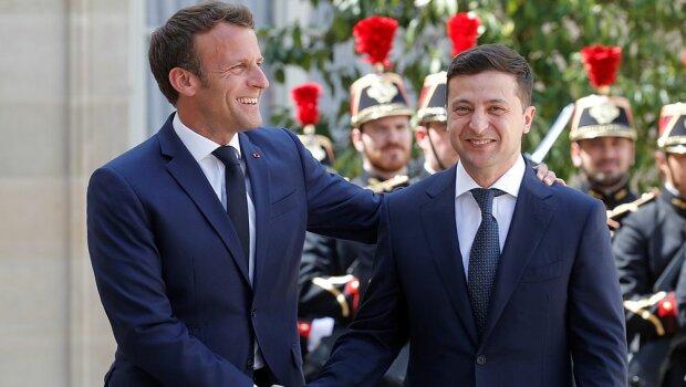 Владимир Зеленский и Эммануэль Макрон, фото: m.day.kyiv.ua