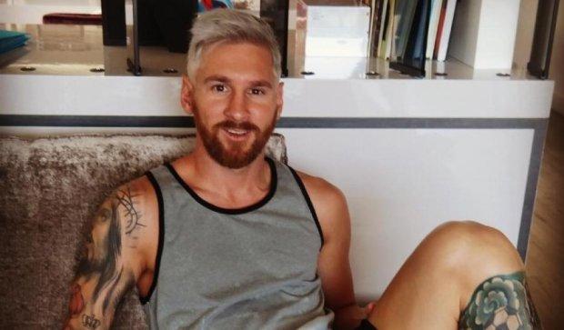 Месси превратился в бородатого блондина