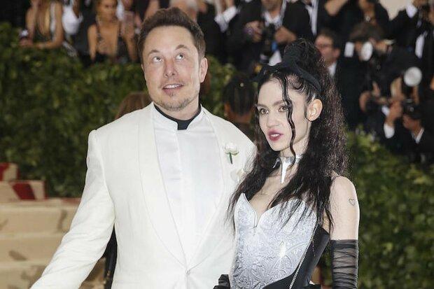 Илон Маск с возлюбленной Граймс, фото Getty