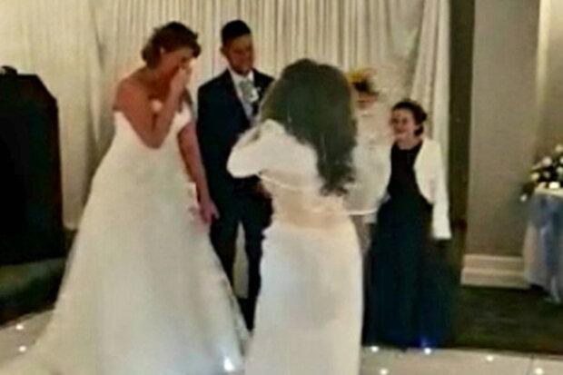 """Экстремалка в белом платье ворвалась на свадьбу и отхлестала жениха: """"Остановите!"""""""
