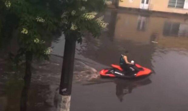 Затоплений Житомир, скріншот: YouTube