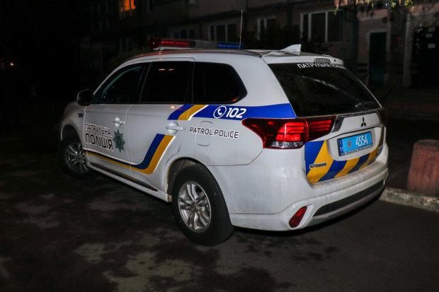 Невероятный инцидент с грабителями и киевскими копами попал на камеру