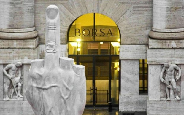 Весела італійська біржа: непристойні жести та труси порнозірки