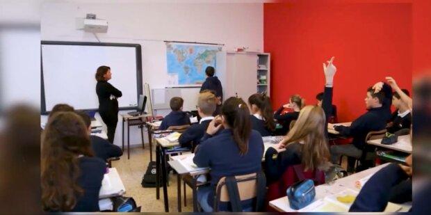Школа в Італії, фото: скріншот з відео