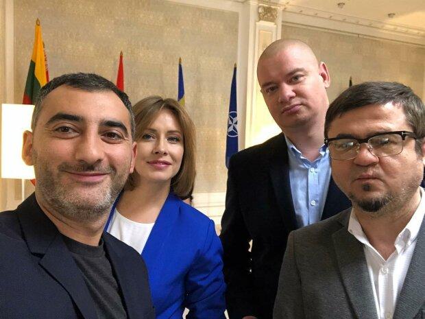 Міка Фаталов, Олена Кравець, Євген Кошовий і Юрій Крапов