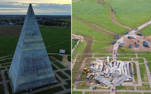 Шаман не помог: ураган смел языческую пирамиду в Подмосковье