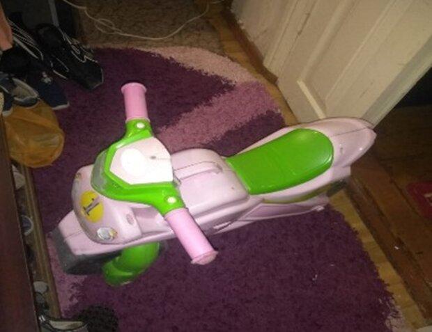 детский велосипед, фото с Facebook