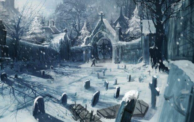 Кладбище - арт, скриншот: YouTube