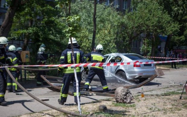 Под Харьковом остановка раздавила водителя: жуткие фото