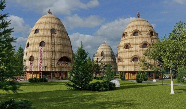 Під Львовом збудують еко-готель у вигляді солом'яних копиць (фото)