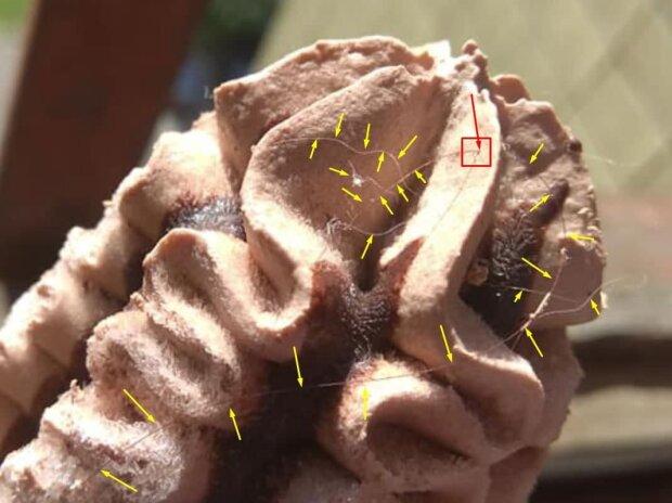 Морозиво з волоссям, фото: Telegram