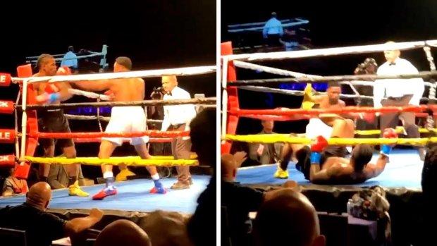 Боксеры одновременно отправили друг друга в нокдаун: эпическое видео