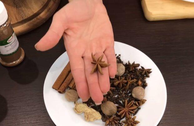 Приготування глінтвейну, скріншот відео