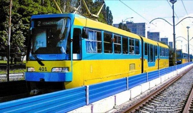 В Києві зупинився швидкісний трамвай