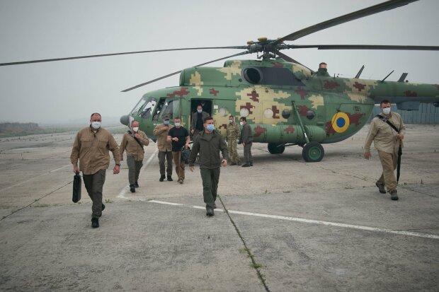 Володимир Зеленський, пожежа на Луганщині - фото з Фейсбук В.Зеленського