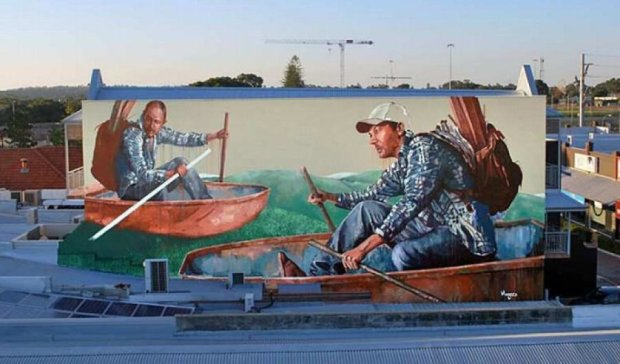 Британский художник украсил Подол необыкновенными графити