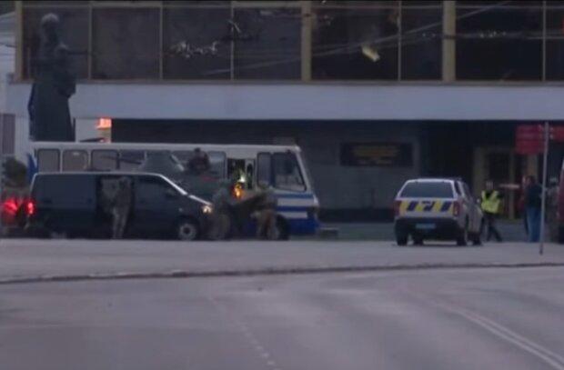 Задержание луцкого террориста, скриншот: YouTube