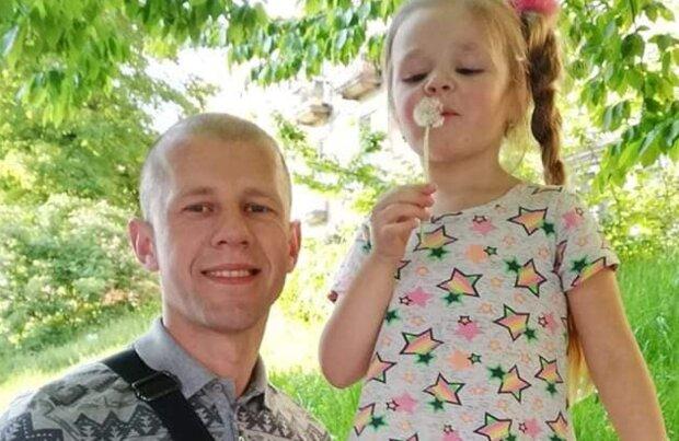 Бравий ветеран АТО благає врятувати донечку від раку - на Донбасі не боявся куль, а тепер ридає, як дитина