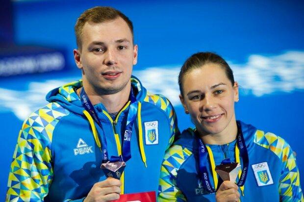 Виктория Кесарь и Станислав Олиферчик, LEN, facebook.com/olympicua