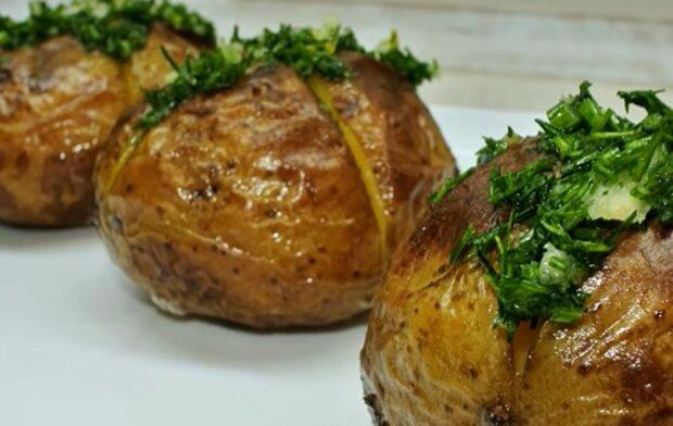 Запечена картопля, скріншот: YouTube