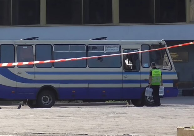 Акт терроризма в Луцке, скриншот: YouTube