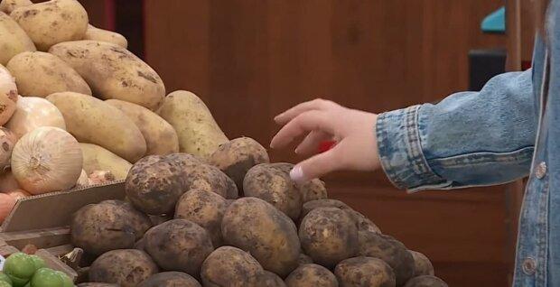 Картошка в супермаркете, скриншот: Youtube