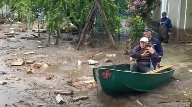 Паводки в Карпатах, скріншот