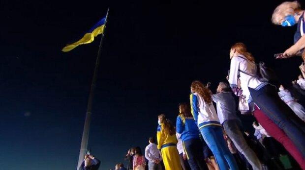Флагшток у Києві, фото: Українська правда