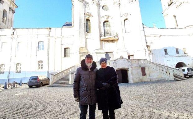Лариса Ницой с мужем, фото с Facebook