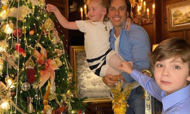 Максим Галкін з дітьми Лізою та Гаррі, фото: Instagram