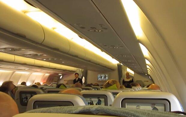 Салон самолета, фото: кадр из видео