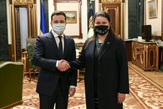 Владимир Зеленский и Оксана Маркарова, фото president.gov.ua