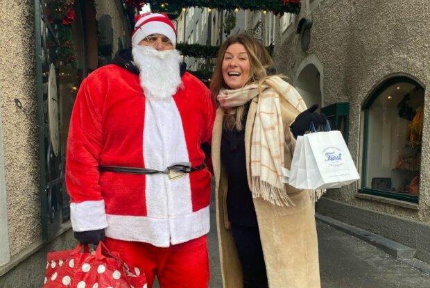 Санта Клаус и Жанна Бадоева, фото Инстаграм