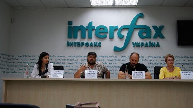 """Об'єднання партій - пресконференція, """"Інтерфакс"""", фото Знай.ua"""