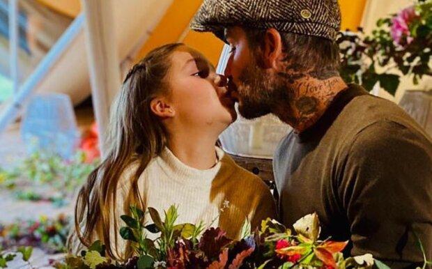 Дэвид Бекхэм с дочкой, фото: instagram.com/victoriabeckham