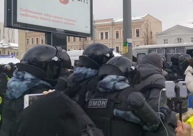 Протести в Росії, кадр з відео