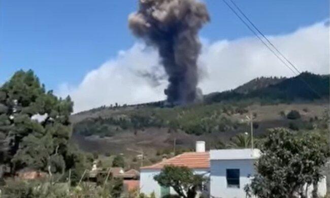 Виверження вулкану на Канарських островах, кадр з відео